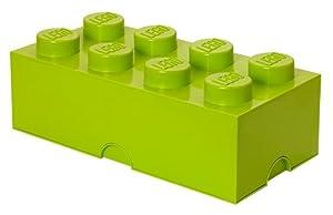 LEGO Lizenzkollektion 40041220 Stapelbare Aufbewahrungsbox, 8 Noppe, hellgrün