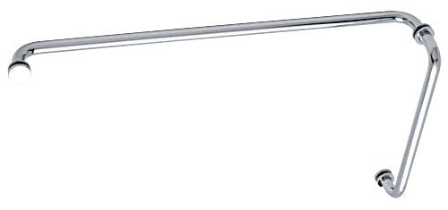 "Crl ""Bm"" Chrome 12"" Pull Handle 24"" Towel Bar Combination With Metal Washers front-544241"