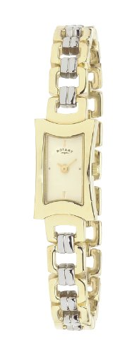 Rotary LB02276/03 Ladies Two-tone Brass PVD Stainless Steel Bracelet Watch