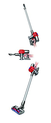 dyson dc62 aspirateur balai sans fil technologie 2 tier radial garantie 2 ans blanc et rouge. Black Bedroom Furniture Sets. Home Design Ideas