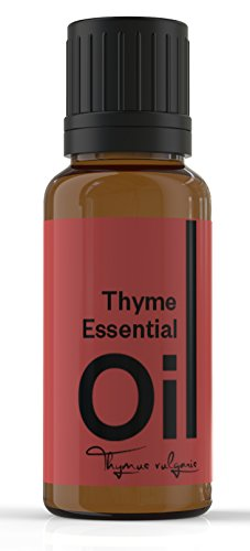 Cielune Thyme (Red) Essential Oil - 100% Pure, All Natural Premium Oil - Therapeutic Grade - Ideal for Aromatherapy & Ingredient in Beauty Products - Antifungal & Antioxidant - Natural Remedy for Respiratory Problems, Improving Heart Health, Enhancing Vis