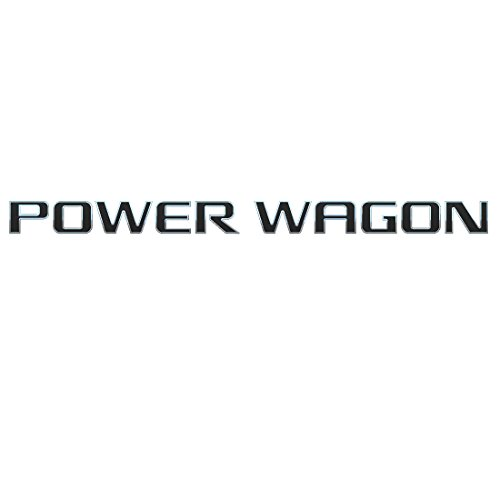EMBLEM POWER WAGON FOR DODGE RAM 1500 RAM2500 RAM3500 RAM4500 CHROME WITH BLACK PAINT REPLACEMENT (Dodge Ram Power Wagon compare prices)