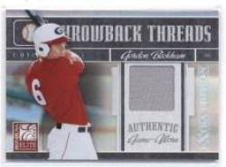 2008 Donruss Elite Extra Edition Throwback Threads #TTS-2 Gordon Beckham - Chicago White Sox (Piece of Authentic Jersey - Serial #d to 500) (Baseball Cards) Amazon.com