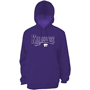 Classic Mens Kansas State Wildcats Hooded Sweatshirt - Purple by Soffe