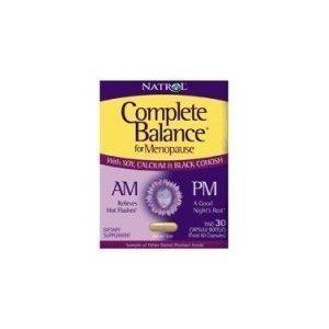 Natrol Complete Balance A.M. / P.m. Formule pour la ménopause, 30 Capsules (Pack de 2)