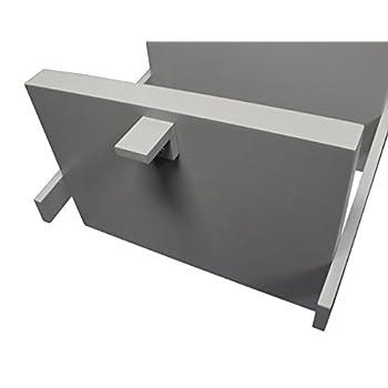 "eHemco 5 Tier Leaning Ladder Book Shelf in White Finish 21-5/8""W X70""H"