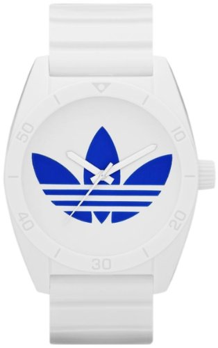 Adidas Unisex Santiago ADH2704 White Polyurethane Quartz Watch with White Dial