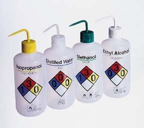 Nalgene Right-To-Know Narrow-Mouth Ldpe Wash Bottles, Capacity/Closure Size: 32 Oz. (1000Ml) Capacity; 38Mm Closure Size; Nalgene No.: 2425 1004; Label De front-552833