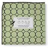 Ultimate Receiving Blanket - Pastel Lime with Brown Circlesby Swaddle Designs