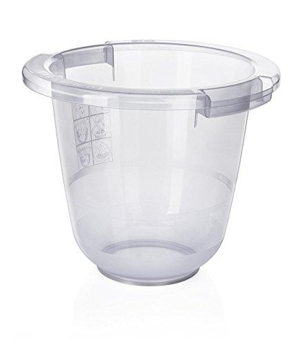 Tummy Tub 500100 Vaschetta Ergonomica e Anatomica per Neonati, Bianco Trasparente