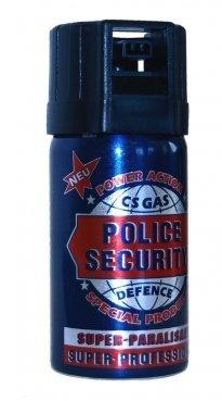 "CS-Gas 40ml ""Police Security"" Abwehrspray CS GAS Tränengas"