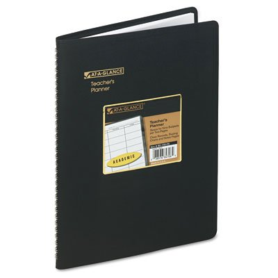 Undated teachers planner, 10-7/8 x 8-1/4, black cover - Buy Undated teachers planner, 10-7/8 x 8-1/4, black cover - Purchase Undated teachers planner, 10-7/8 x 8-1/4, black cover (At-a-Glance, Office Products, Categories, Office & School Supplies, Education & Crafts)