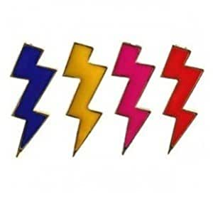 Royal Blue color Bright Lightning-Shaped Earrings Enamel Punk Exaggerated Personality Earring For ladies By Jewelqueen