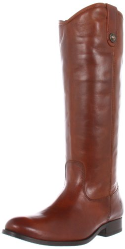 FRYE Women's Melissa Button Boot, Cognac Smooth Vintage Leather, 8 M US