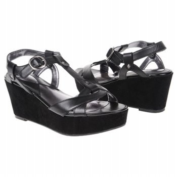 Ciao Bella Women's Petunia Wedge Sandal,Black,6 M US