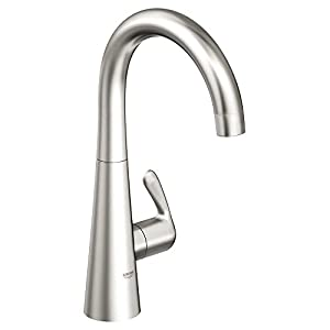 Grohe 30026sde zedra ladylux new single handle kitchen faucet in stainless steel with - Grohe kitchen faucets amazon ...