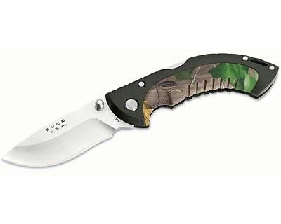 Buck 10 Point Realtree Hardwoods Green Hd Omni Avid Hunter Tm Knife (Camo, 3-Inch)