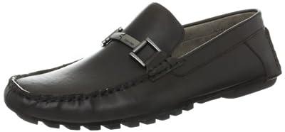 Calvin Klein Men's Dolan Pull Up Leather Slip-On Loafer
