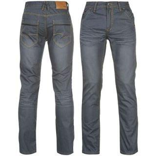 Lee Cooper Premium Jeans Mens Mid Blue 36W R