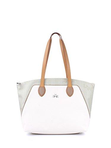 La Martina Borsa donna Shopping colore Beige/Bianco - L61PW3150052B64
