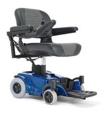 Pride Go Chair Portable Electric Wheelchair Blue