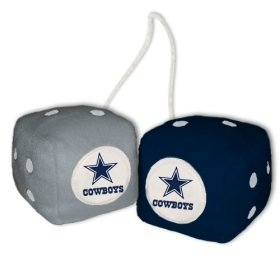 Best Buy! Dallas Cowboys Fuzzy Dice