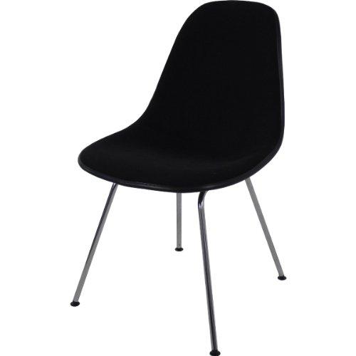Vitra 440024000201 Eames - Silla (pl�stico y cromo, 810 x 465 x 550 mm), color negro