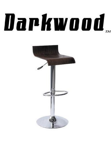 Darkwood Contemporary Wooden Bar Stool - Brown front-683405