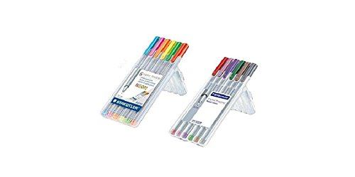 Staedtler Triplus Fineliner 12 Color Neon and Nature Color Pen Set (Triplus Fineliner Nature Colours compare prices)