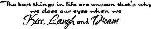 The best things in life...Family Wall Quotes Words Sayings Removable Wall Lettering, BLACK