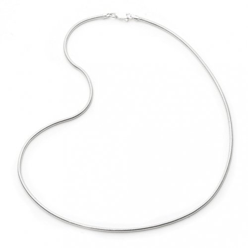 Bling Jewelry Sterling Silver 025 Gauge Snake Chain Necklace