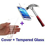 Motorola Moto G (2nd Gen) Combo Offer Mobile Transparent Ultrathin Soft Silicon Back Cover + Curved Tempered Glass...