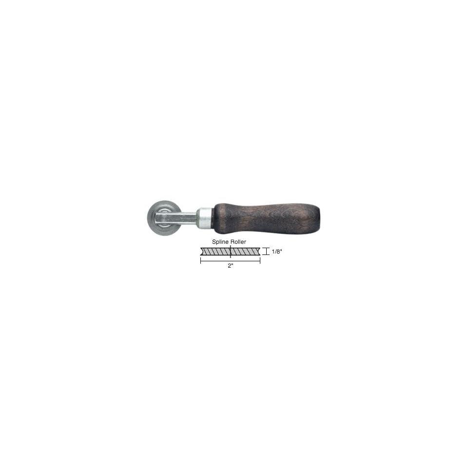 CRL Concave Edge Steel Spline Roller 2 x 1/8 Wheel