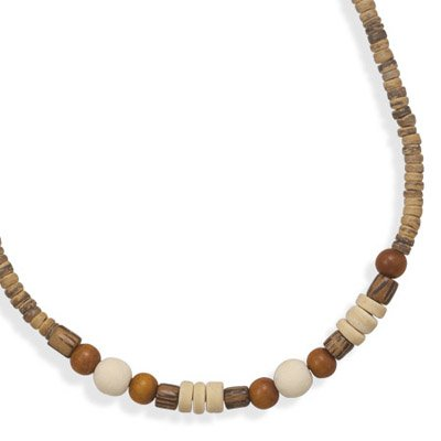Wood Bead Fashion Necklace