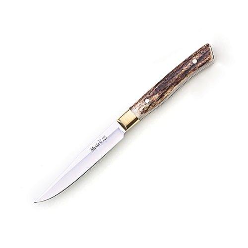 """Muela Of Spain 8"""" Full Tang Steak Knife, Stag Handle"""