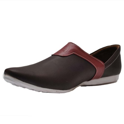 Hawai Men Loafers Dark Brown And Red 5