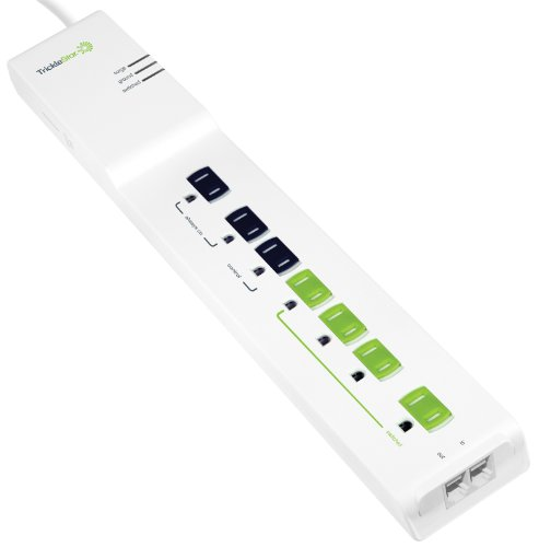 Tricklestar 180Ss-Us-7Xd 2160 Joules, Rj11/45 Secondary Protection And 4-Feet Cord Advanced Energy Saving 7 Outlet Powerstrip Surge Protector