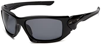 Oakley Men's Scalpel Iridium Polarized Sport Sunglasses,Polished Black Frame/Grey Polarized Lens,one size