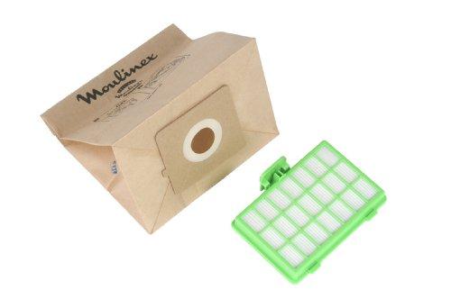 Moulinex MT000101 10 Sacs Papier + 1 Filtre Hepa H10 Aspirateur Zélio