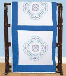 Vintage Circle White Quilt Blocks, 6-Pack
