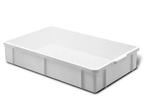 Giganplast Transport Cassetta, Plastica, Bianco, 60 x 40 x 11 cm