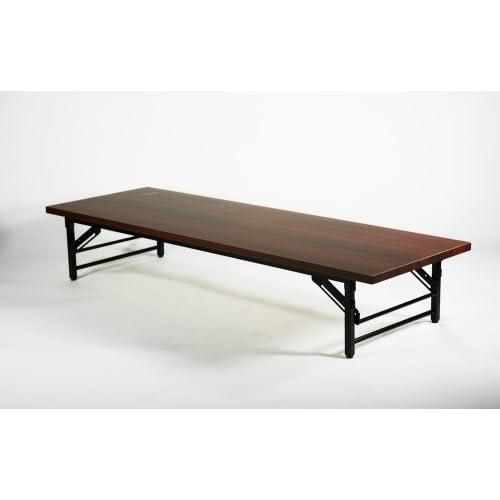 ■折畳み 会議テーブル 会議用テーブル 座卓(ロータイプ) ミーティングテーブル■180x60x33cm■7650B