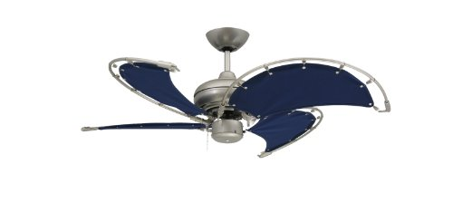Shop Sea Gull Lighting 3 Light Melody Brushed Nickel: TroposAir Voyage Brushed Nickel IndoorOutdoor Ceiling Fan
