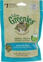 Greenies Feline Dental Treats Ocean Fish -- 2.5 oz