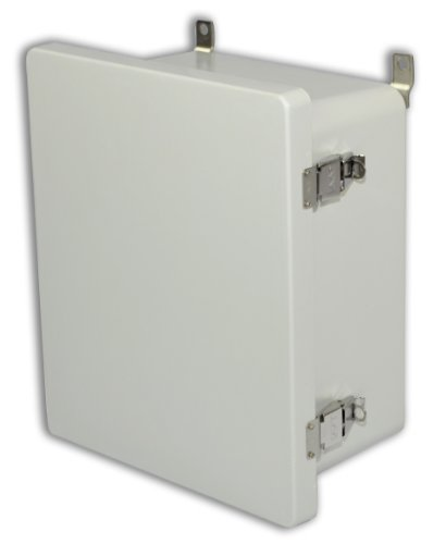 Allied Moulded Am1868L Am Series Fiberglass Jic Size Junction Box, Snap Latch And Hinged Cover