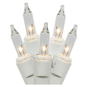 Click to read our review of LiteSource 00888 - 15 Light White Wire Clear Battery Operated Miniature Christmas Light String Set