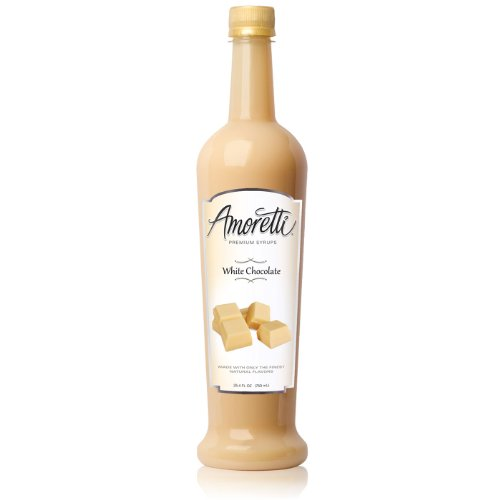 Amoretti Premium Syrup, White Chocolate, 25.4 Ounce