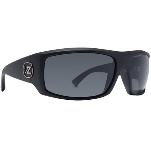 VonZipper Clutch Men's Polarized Race Wear Sunglasses - Black Satin/Grey Poly / One Size Fits All