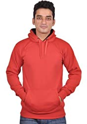 Vibgyor Full Sleeve Hooded Men's Red Sweatshirt