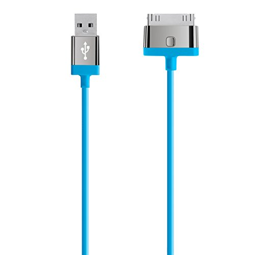Belkin MixIt - Cable de carga y sincronizacin para dispositivos Apple (30 pines/USB, certificado MFi, 2 m), color azul